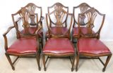 Set of Six Mahogany Dining Chairs in Georgian Style
